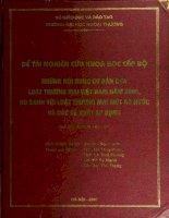 Những nội dung cơ bản của luật thương mại việt nam 2005, so sánh với luật thương mại một số nước và các đề xuất áp dụng