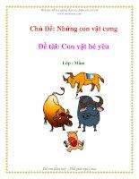 Tài liệu Chủ Đề: Những con vật cưng - Đề tài: Con vật bé yêu - Lớp : Mầm pdf