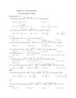 Tài liệu Tập đề thi trắc nghiệm bất phương trình số 3 pdf