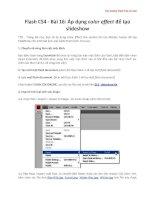 Tài liệu Học Adobe Flash CS4 cơ bản Flash CS4 - Bài 16 phần 2 pdf