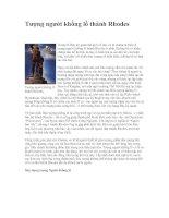 Tài liệu Tượng người khổng lồ thành Rhodes pptx