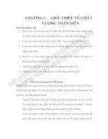 CHƯƠNG 1: GIỚI THIỆU VỀ CHẤT LƯỢNG TOÀN DIỆN