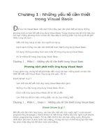 Tài liệu Visual Basic Bách Khoa-Chương 1- Những yếu tố cần thiết pptx