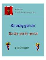 Tài liệu Đại cương giun sán ( Giun đũa - Giun tóc - Giun kim ) docx