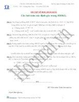 Tài liệu Các bài toán xác định góc trong HHKG (Bài tập và hướng dẫn giải) pdf