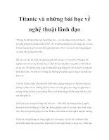 Tài liệu Titanic và những bài học về nghệ thuật lãnh đạo docx