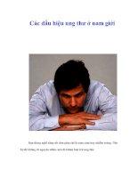 Tài liệu Các dấu hiệu ung thư ở nam giới pptx