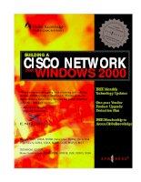 Tài liệu Building a Cisco Network for Windows 2000 P1 pdf