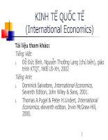 Tài liệu Bài giảng kinh tế quốc tế -DH KTQD doc