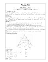 Tài liệu Mặt cầu, mặt trụ, mặt nón_Chương 2 pptx