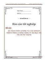 Tài liệu LUẬN VĂN :KẾ TÓAN TIỀN LƯƠNG VÀ CÁC KHOẢN TRÍCH THEO LƯƠNG CÔNG TY ĐO ĐẠC DV-TM- HƯNG THỊNH pdf