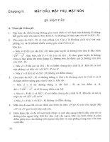 Tài liệu Bài giảng số 22: Mặt cầu - Mặt trụ - Mặt nón pptx