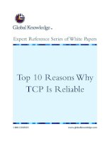 Tài liệu Top 10 Reasons Why TCP Is Reliable ppt