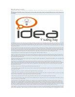 Tài liệu Đánh giá ý tưởng và mục tiêu pptx