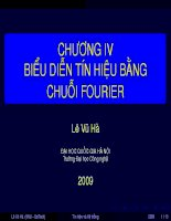 Tài liệu Chương 4 - Biểu diễn tín hiệu bằng chuỗi fourier pptx