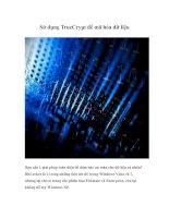 Tài liệu Sử dụng TrueCrypt để mã hóa dữ liệu docx