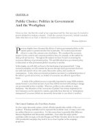 CHAPTER 16: Public Choice: Politics in Government And the Workplace
