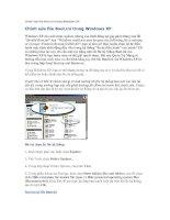 Tài liệu Chỉnh sửa file Boot.ini trong Windows XP doc