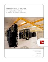 Tài liệu ADC PROFESSIONAL SERVICES ADC Engineering Services for Network Planning and Deployment doc