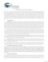 Tài liệu CYPRESS SOFTWARE LICENSE AGREEMENT pptx