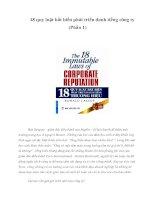 Tài liệu 18 quy luật bất biến phát triển danh tiếng công ty (Phần 1) pptx