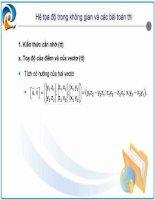 Tài liệu Hệ tọa độ trong không gian và các bài toán thi docx