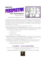Tài liệu Basic Perspective for Beginners - Cơ bản về hội họa cho người mới bắt đầu ppt