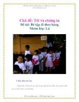 Tài liệu Chủ đề: Tôi và chúng ta - Đề tài: Bé tập đi theo hàng - Nhóm lớp: Lá pdf