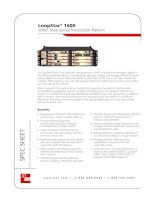 Tài liệu LoopStar® 1600 SONET Multi-Service Transmission Platform pptx