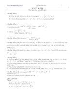 Tài liệu Bài tập toán ôn thi đại học khối A 2006 có lời giải hướng dẫn pdf