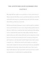 Tài liệu LUYỆN ĐỌC TIẾNG ANH QUA TÁC PHẨM VĂN HỌC-THE ADVENTURES OF HUCKLEBERRY FINN CHAPTER 15 docx