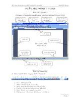 Tài liệu Bài thực hành môn học Máy tính Kinh doanh 1 - Phần Microsoft Word pdf
