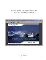 Tài liệu TÀI LIỆU HƯỚNG DẪN SỬ DỤNG PHẦN MỀM KHAI BÁO HẢI QUAN ECUSKD 1.2 pdf