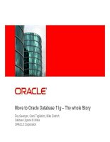 Tài liệu Oracle Workshop - Upgrade to 11g P1 doc