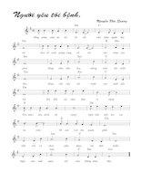 Tài liệu Bài hát người yêu tôi bệnh - Nguyễn Đức Quang (lời bài hát có nốt) ppt