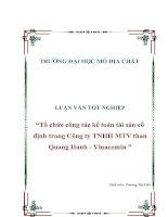 Tải báo cáo thực tập Kế toán tài sản cố định trong Công ty TNHH MTV than Quang Hanh