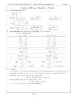 Tài liệu Ôn tập tích phân cho học sinh 12 luyện thi doc