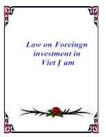 Tài liệu Law on Foreingn investment in Viet Nam pptx