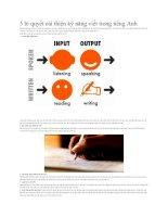 5 bí quyết cải thiện kỹ năng viết trong tiếng anh