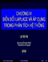 Tài liệu Chương 6 - Biến đổi Laplace và áp dụng trong phân tích hệ thống docx