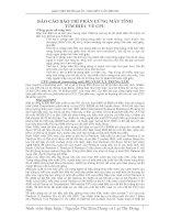 Tài liệu BÁO CÁO BẢO TRÌ PHẦN CỨNG MÁY TÍNH TÌM HIỂU VỀ CPU pdf