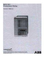 Tài liệu Hướng dẫn vận hành rơ le REX 521 Protection Relay pdf - Tài
