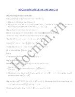 Tài liệu Hướng dẫn giải bộ đề thi thử 1,2 pptx