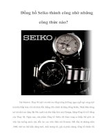 Tài liệu Đồng hồ Seiko thành công nhờ những công thức nào? Tại Geneve, Thụy Sĩ một doc