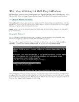 Tài liệu Khắc phục lỗi không thể khởi động ở Windows docx