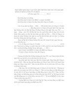 Tài liệu TÀI LIỆU 9: MẪU PHÁT BIỂU KHAI MẠC ĐẠI HỘI CỔ ĐÔNG ppt
