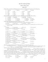 Tài liệu 2 đề ôn thi Đại học Tiếng Anh và đáp án số 3+4