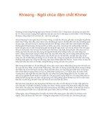 Tài liệu Khleang - Ngôi chùa đậm chất Khmer docx