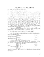 Tài liệu Chương 2 : Định luật nhiệt động học I ppt