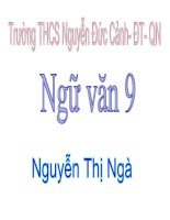 Gián án Tiết 85: HDĐT: Những đúa trẻ GV: Nguyễn Thị Ngà - Trường THCS Nguyễn Đức Cảnh